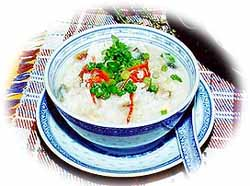 Century Egg Congee or Pei Tarn Chook